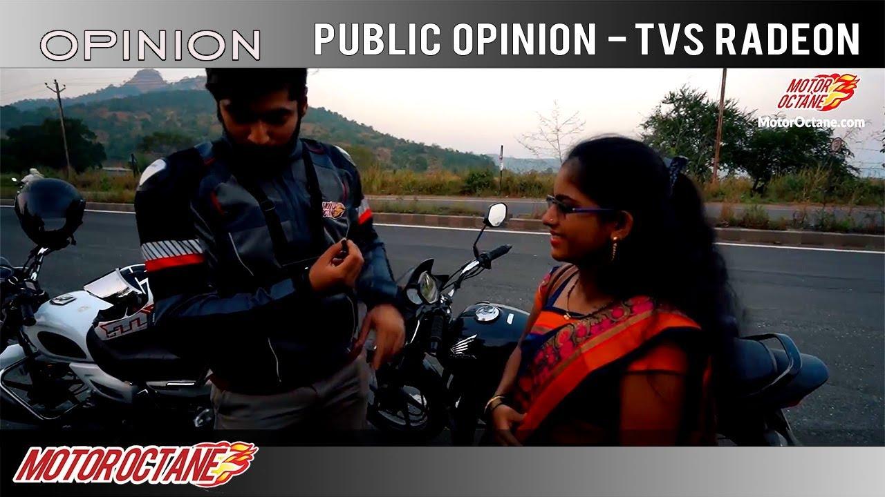Motoroctane Youtube Video - People react to TVS Radeon   Hindi   MotorOctane