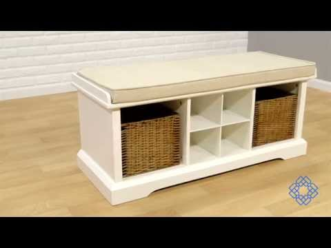 Video for Brennan Black Two Piece Entryway Bench and Shelf Set