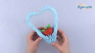 """Набор для творчества ЗD оригами """"Корзинка с клубникой"""" 293 модуля от компании Интернет-магазин """"Радуга"""" - школьные рюкзаки, канцтовары, творчество - видео"""