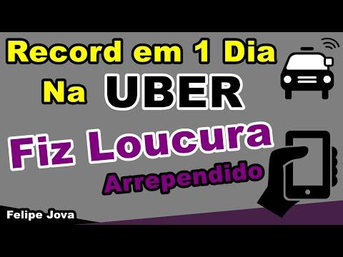 Record de ganhos Na Uber, Fiz Loucura !