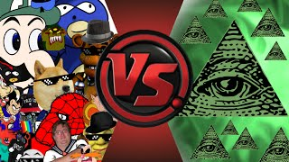 MLG And YOUTUBE POOP Vs ILLUMINATI! FINAL FACE OFF! Cartoon Fight Club Episode 33