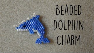DIY Seed Bead Dolphin Charm How To // Bead Weaving Brick Stitch // ¦ The Corner Of Craft