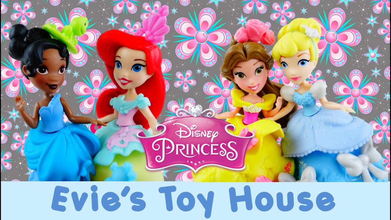 Disney Princess Little Kingdom Snap-Ins Cinderella, Belle, Ariel, Tiana Review| Evies Toy House