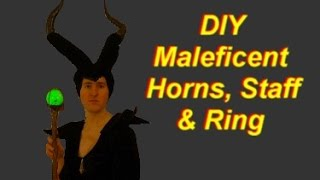 Maleficent Costume: DIY Horns, Staff, Ring