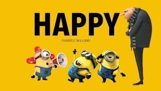 Despicable Me - Pharrell Williams - Happy (Lyrics Video) ► By QNTN