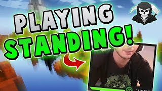 PLAYING WHILE STANDING! ( Hypixel Skywars FUNNY MOMENTS )
