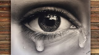 Drawing A Realistic Eye With Teardrop