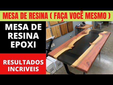 COMO FAZER TAMPO de MESA com RESINA - MESA DE RESINA VEJA O VDEO AQUI!!