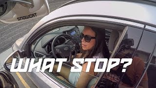 """I didn't see that stop sign"" - BECAUSE YOU'RE ON THE PHONE (DUAL VLOG HONDA GROMS!)"