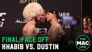 Khabib Nurmagomedov vs. Dustin Poirier Face Off   UFC 242 Ceremonial Weigh-Ins