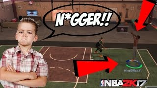RACIST DRIBBLE GOD GETS TRIGGERED AND EXPOSED! - 1V1 MYCOURT NBA 2K17 - HE DROPPED THE N BOMB!