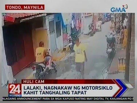 [GMA]  24 Oras: Lalaki, nagnakaw ng motorsiklo kahit tanghaling tapat