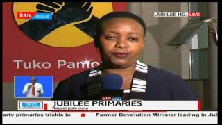 Jubilee party has postponed primaries in four counties to 26th April