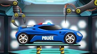 Police Car | Car Garage | Cartoon Car Remodel | Futuristic Vehicles For Kids
