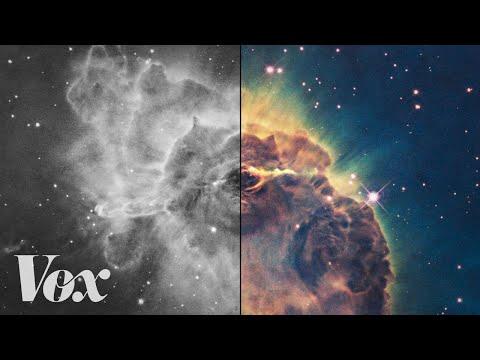 Adding Color to Space Photos