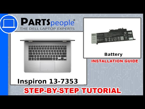 Dell Inspiron 13-7353 (P57G001) Battery How-To Video Tutorial