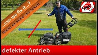 Antriebslos - wenn am Rasenmäher der Antrieb versagt | can we fix it? Rasenmäher vom Schrott...