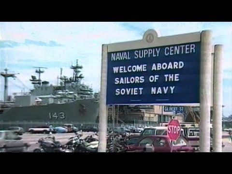 Советские военные моряки в США 25.07.1989