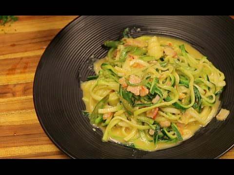Keto Pasta Carbonara with zoodles – keto recipe – healthy recipe channel – keto noodles – low carb