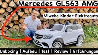 Miweba Kinder Elektroauto Mercedes GLS63 AMG | Unboxing | Aufbau | Test | Review | Erfahrungen