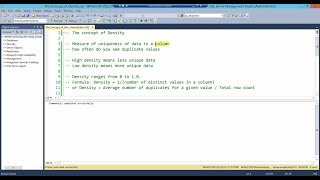 SQL Server – The concept of Density by Amit Bansal