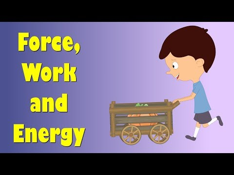 Force, Work and Energy for Kids | #aumsum #kids #education #science #learn