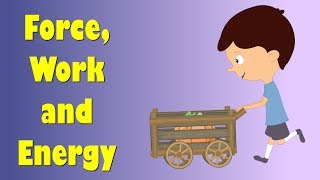 Force, Work And Energy For Kids | #aumsum