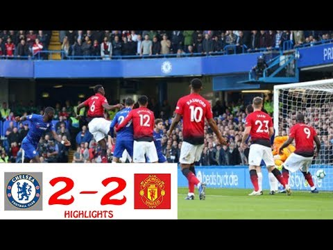 CHELSEA 2 -  2 MANCHESTER UNITED  MATCH HIGHLIGHTS