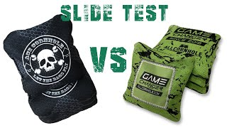 Ace All In Cornhole Bag slide test