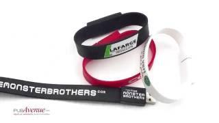 Bracelet USB publicitaire personnalisée en silicone