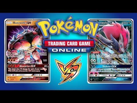Buzzwole GX / Lycanroc GX vs Zoroark GX  – Pokemon TCG Online Game Play