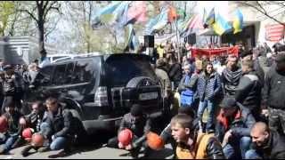 Митинг шахтеров 22 апреля