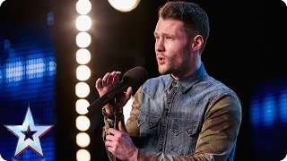 Golden boy Calum Scott hits the right note Audition Week 1 Britains Got Talent 2015 Video