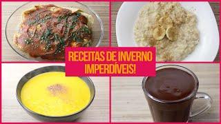 RECEITAS FIT DE INVERNO! | 6 Receitas Fitness Fáceis E Deliciosas Nesse Frio!