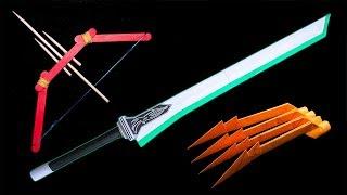 04 Origami Ninja Claw/Boomerang/Sword/Bow - How to make