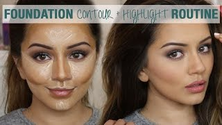 Tutorial  Foundation Contour & Highlight Routine  Kaushal Beauty