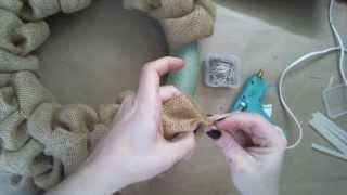 How-To Create The Burlap Bubbles For A Wreath