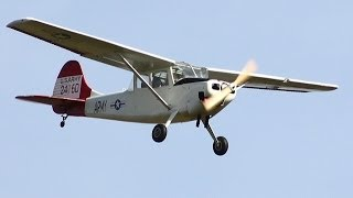 JAKE TEST FLIES RICKSTENATORS RC 1/4 SCALE CESSNA BIRD DOG - RICK FLIES HIS VIPERJET - CMAC 2014