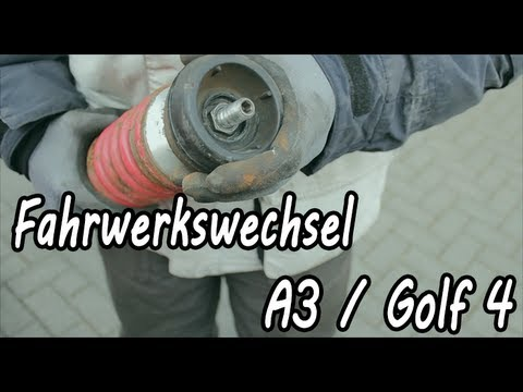 How To Fahrwerk einbau Audi A3 / VW Golf 4