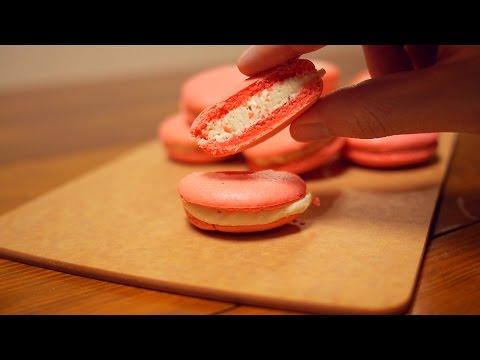딸기 마카롱 만들기 & 레시피 - Strawberry Macaron