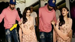 Ranbir Kapoor Becomes Over Protective For Alia Bhatt At Raazi Special Screening