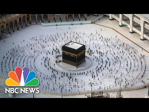 Remarkable Scenes As The Hajj Ends With Social Distancing | NBC News NOW