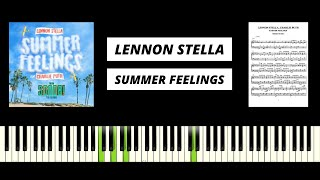 Summer Feelings - Lennon Stella feat. Charlie Puth (from Scoob! The Album) Piano Tutorial & Cover