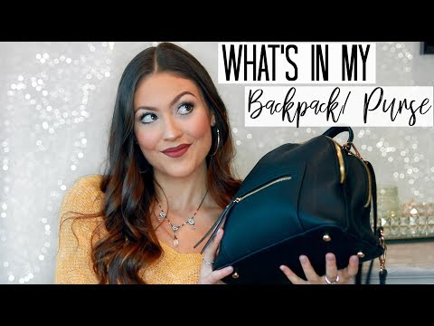 WHAT'S IN MY BAG/ BACKPACK/PURSE 2017 | Michael Kors Backpack Review VS. TJ MAXX Backpack