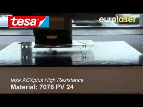 tesa® ACXplus High Resistance | Laser cutting test
