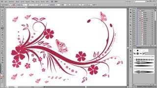Illustrator Tutorial Floral, Swirl, Ornaments, Butterfly