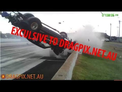 Mick Mahoney crash at South Coast Raceway 2014