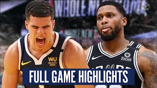 DENVER at SAN ANTONIO - FULL GAME HIGHLIGHTS | 2019-20 NBA Season
