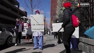New York: Asistentele medicale au protestat pentru că nu au echipamente de protecție