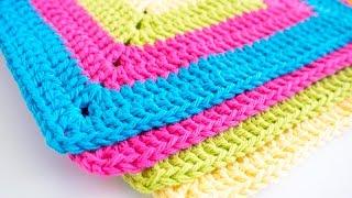 Easy Granny Square Dishcloth Pattern